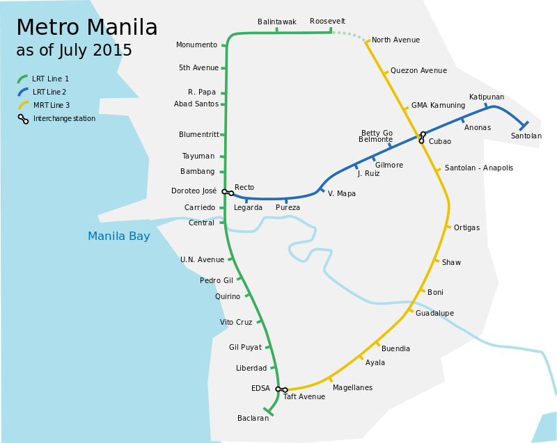 MRTの路線図