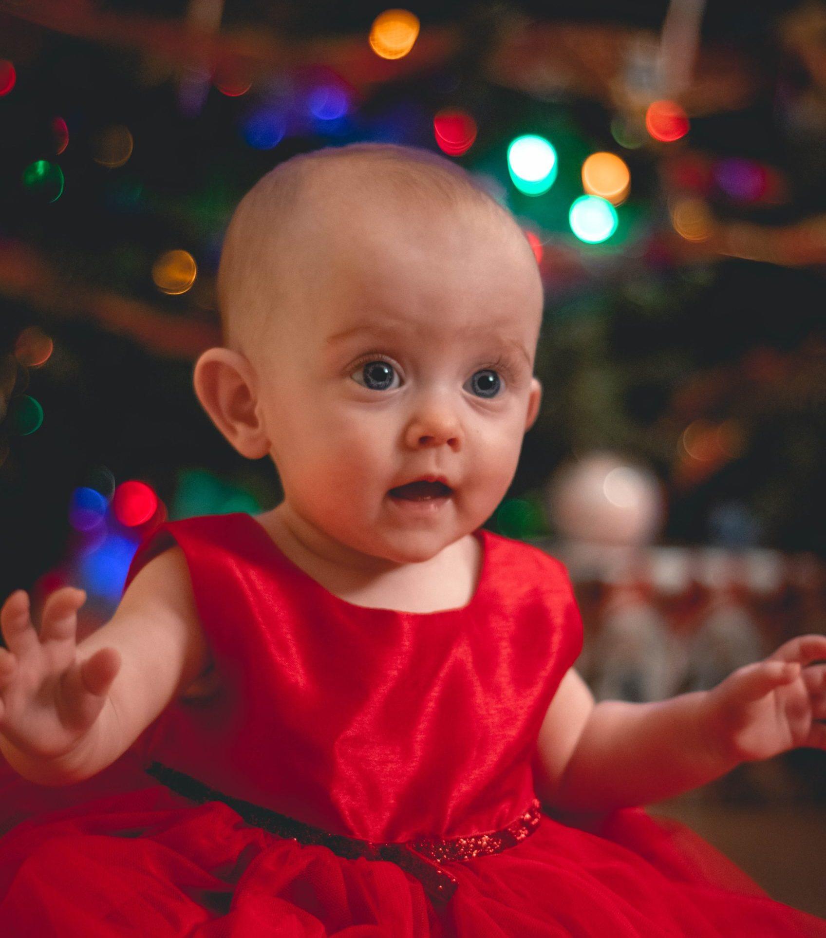 驚いた赤ちゃん